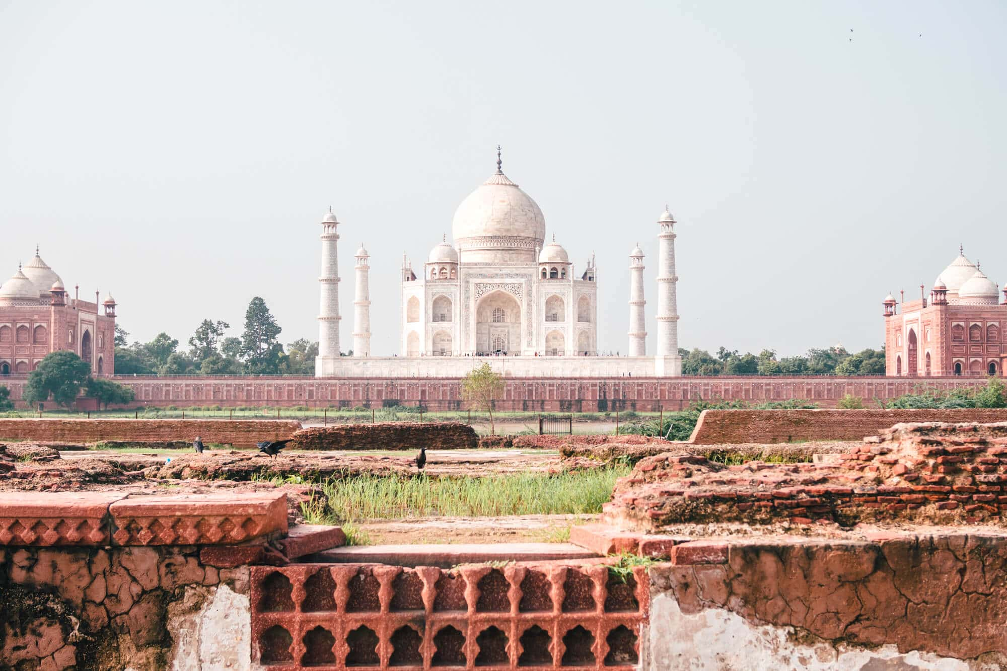 Mehtab Bagh or Moonlight Garden is the best place to view the Taj Mahal in all of Agra #TajMahal #Agra #India