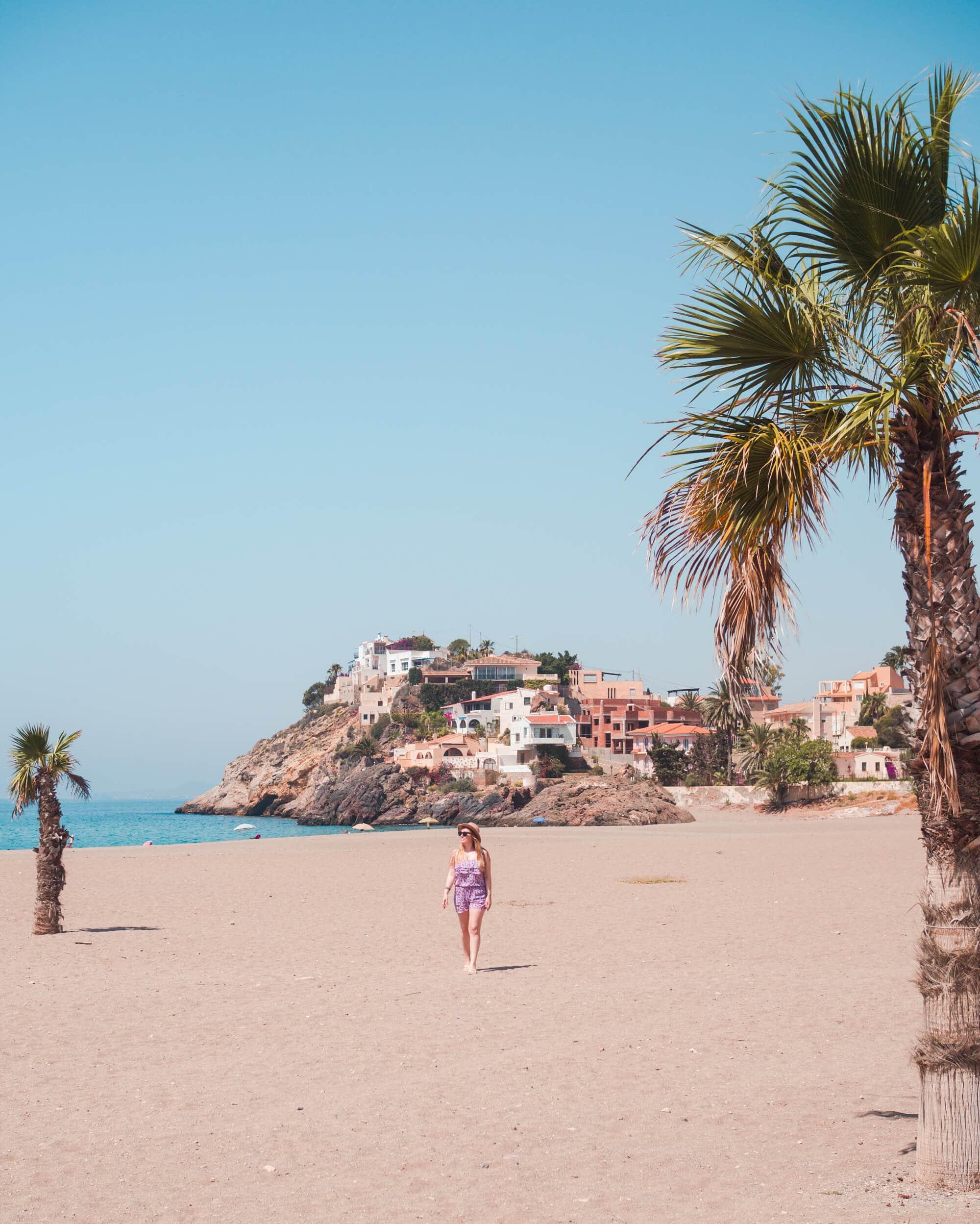 Playa Bolnuevo Beach in Mazarrón, Spain