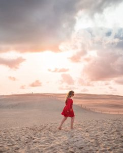 Top 10 best day trips from Gdańsk - Sunset at the sand dunes in Słowiński National Park