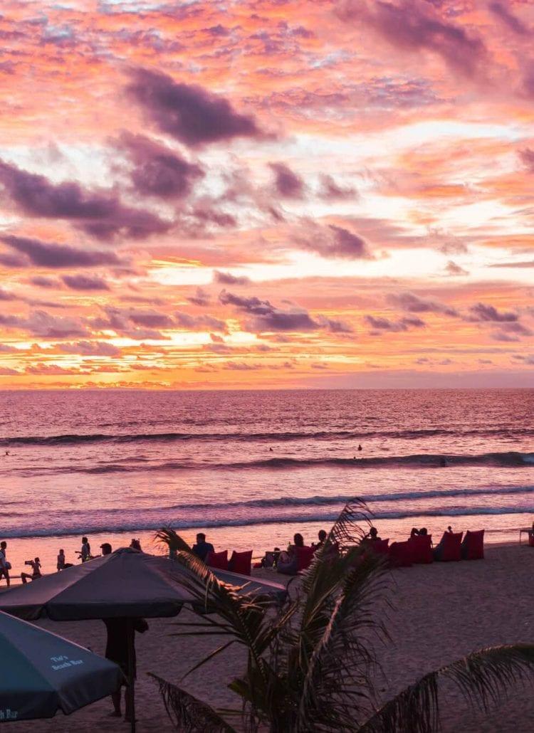 Island Life - Moving back to Bali & Lombok - Incredible sunset at Legian Beach