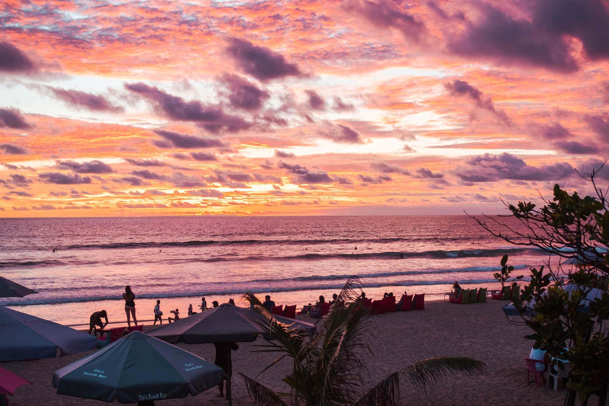 Island Life - Moving back to Bali & Lombok - Incredible sunset at Legian Beach