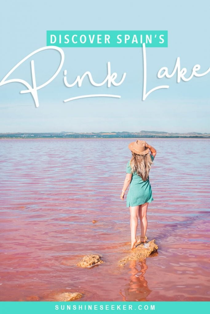 Check out Laguna Salada de Torrevieja - A stunning pink lake in Torrevieja, Spain. Where to find the pink lake + why you should add it to your bucket list now #spain #torrevieja #pinklake #bucketlist #travelinspo