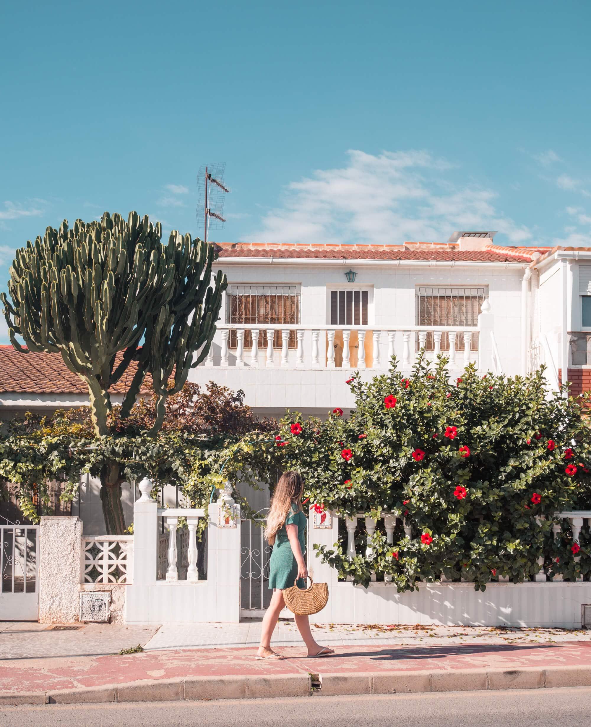 Beautiful street in Torrevieja Spain - Home to the pink salt lake #spain #torrevieja #alicante #bucketlist #travelinspo