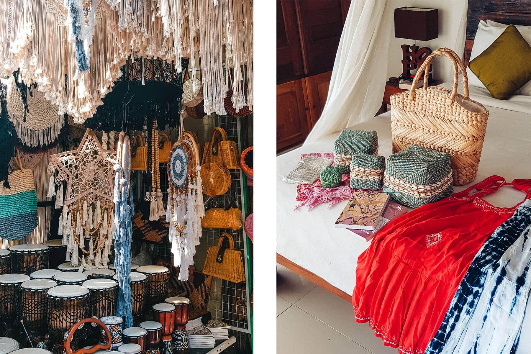 Island Life #4 - Shopping for macramé and rattan bags at Ubud Market