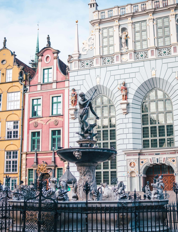 2 days in Gdansk, Poland - Neptune's Fountain at Długi Targ