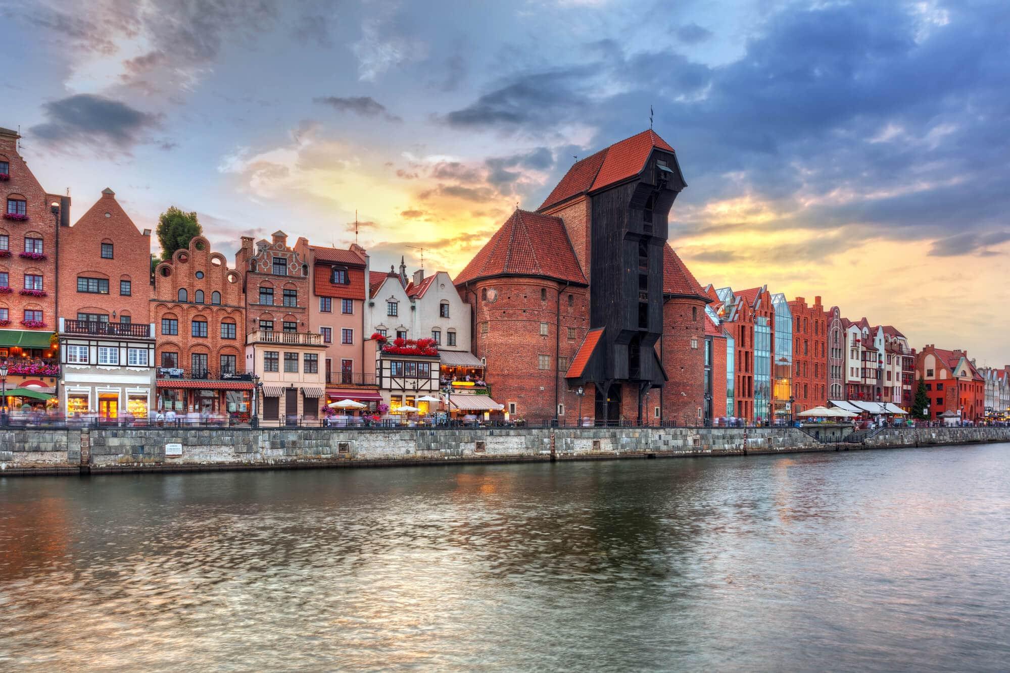 2 days in Gdansk, Poland - View Motlawa River, Gdansk Waterfront and Zuraw crane