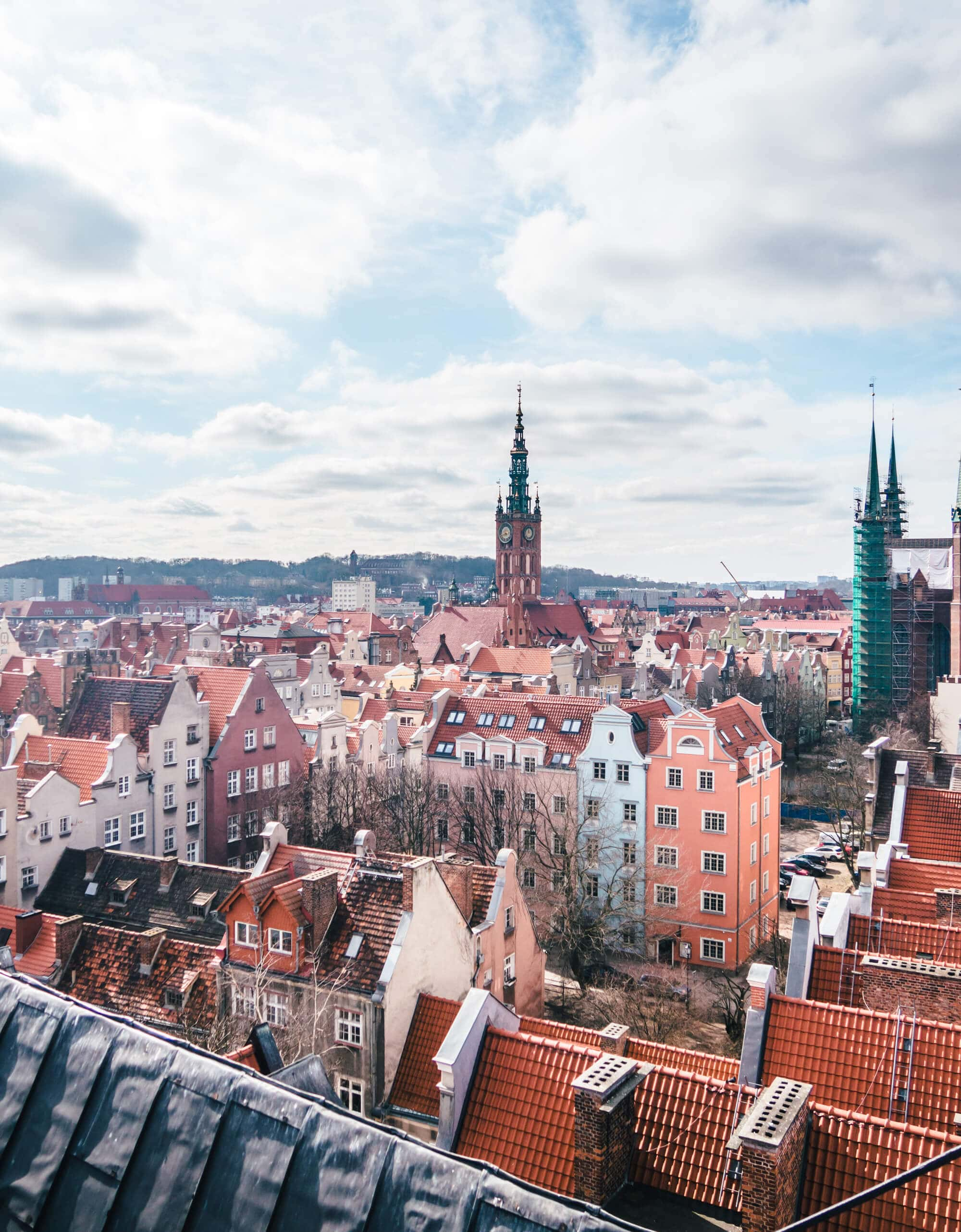 2 days in Gdansk, Poland - View from the tower at the archaeological museum