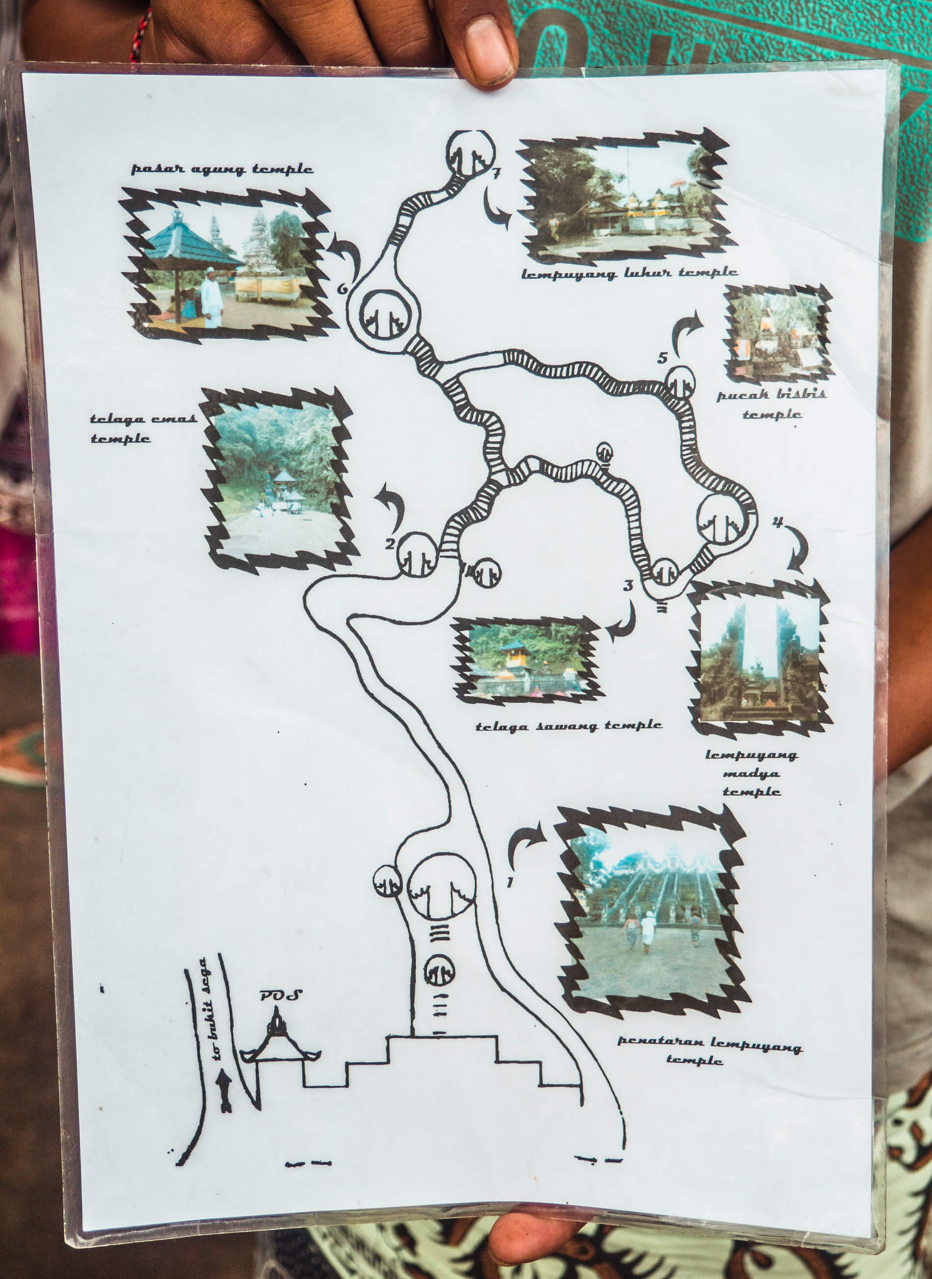 Everything you need to know before visiting Pura Lempuyang (Gates of Heaven) Temple in Bali: Map of the whole complex
