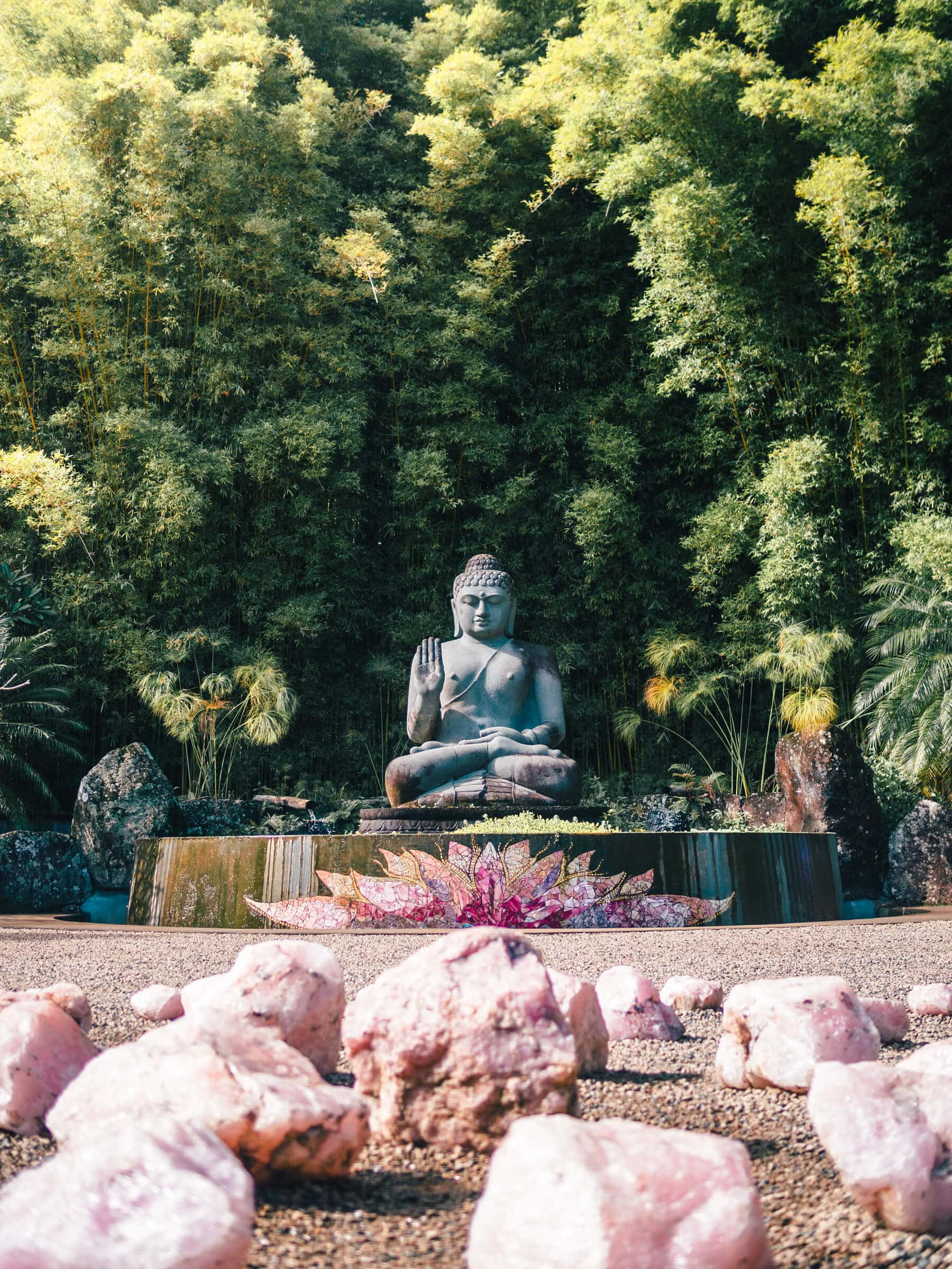 The incredibly stunning Crystal Castle & shambhala Gardens located in the Byron Bay hinterlands - The Buddha Walk