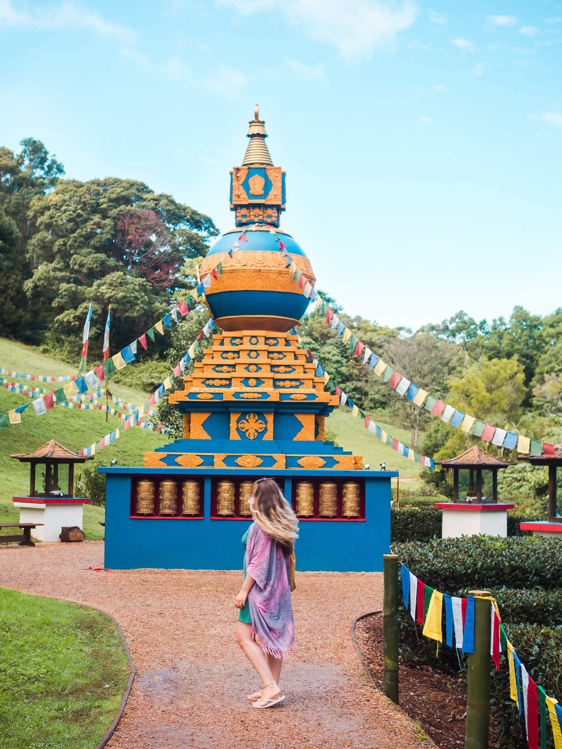 The incredibly stunning Crystal Castle & shambhala Gardens located in the Byron Bay hinterlands - The world peace stupa