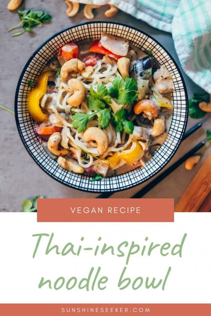 Thai inspired coconut & coriander noodle bowl - Quick & easy vegan recipe #healthy #vegan #easyrecipe