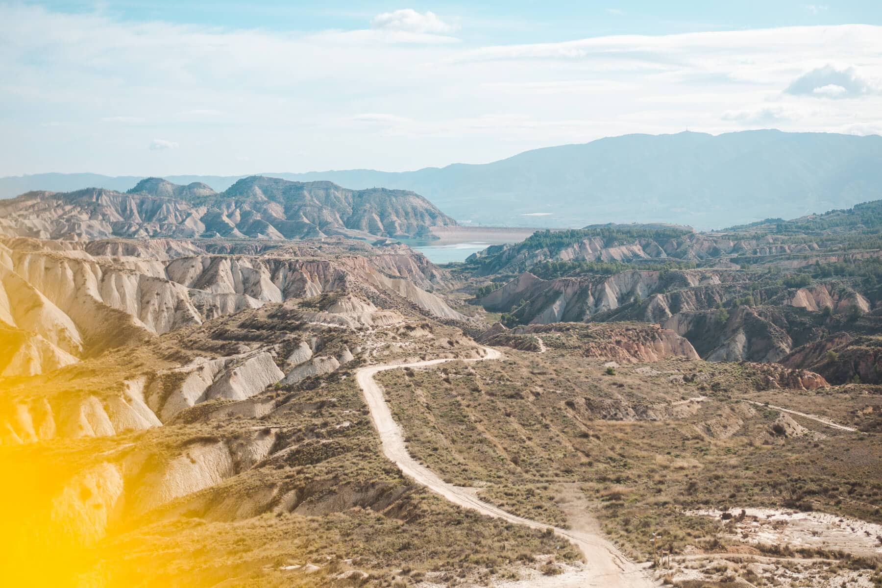Barrancos de Gebas (also known as the Lunar Badlands) in Murcia, one of Spain's most beautiful natural wonders. One of the top things to do in Spain #murcia #spain #bucketlist #naturalwonder
