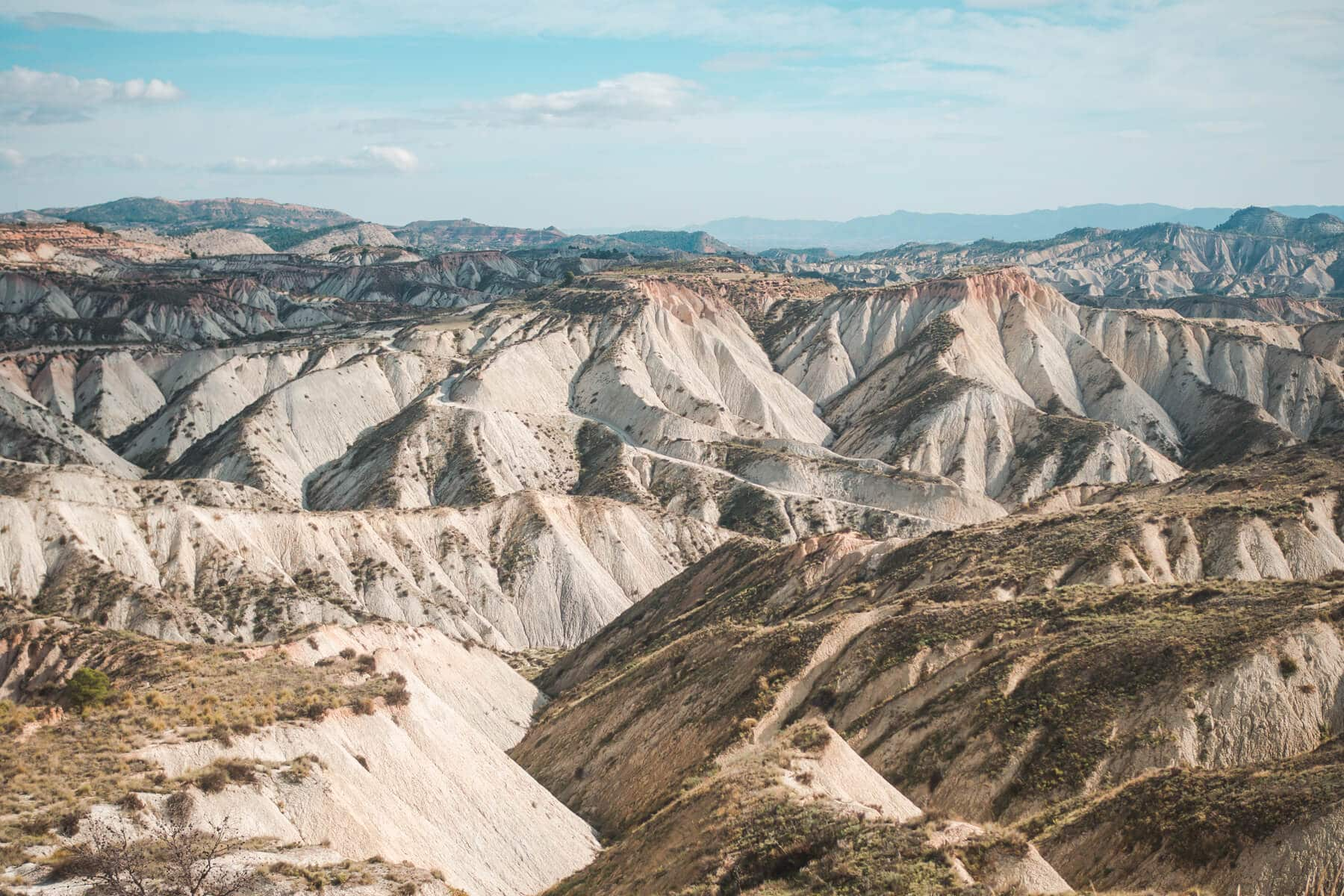 Barrancos de Gebas (also known as the Lunar Badlands) in Murcia, one of Spain's most beautiful natural wonders. One of the top things to do in Spain