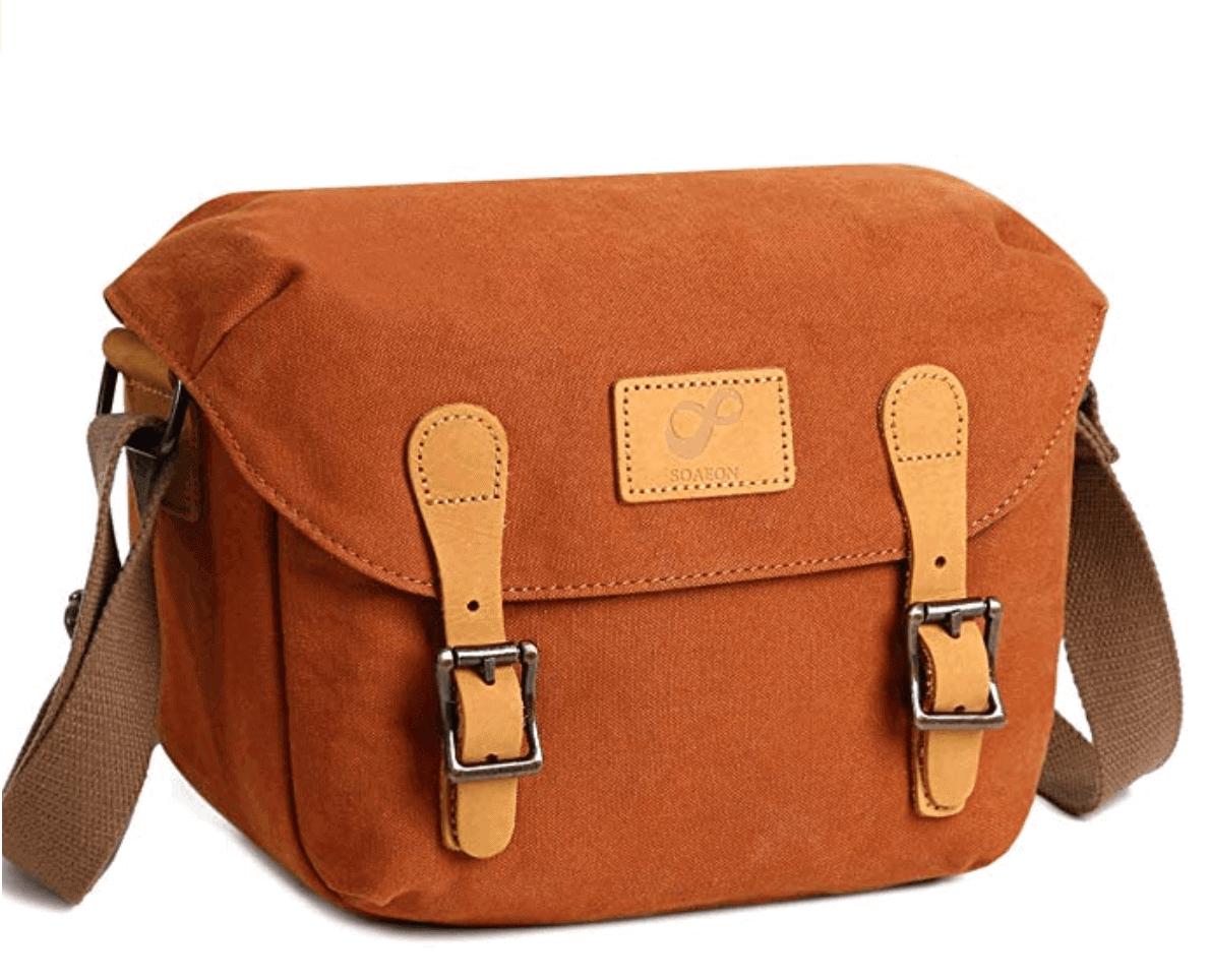 Stylish canvas camera bag - Best travel gift idea under $50
