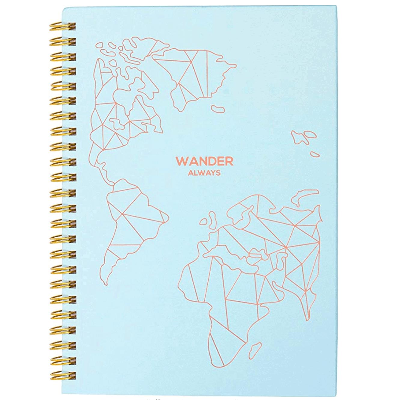 Cute women's travel planner journal - Best travel gift ideas under $50