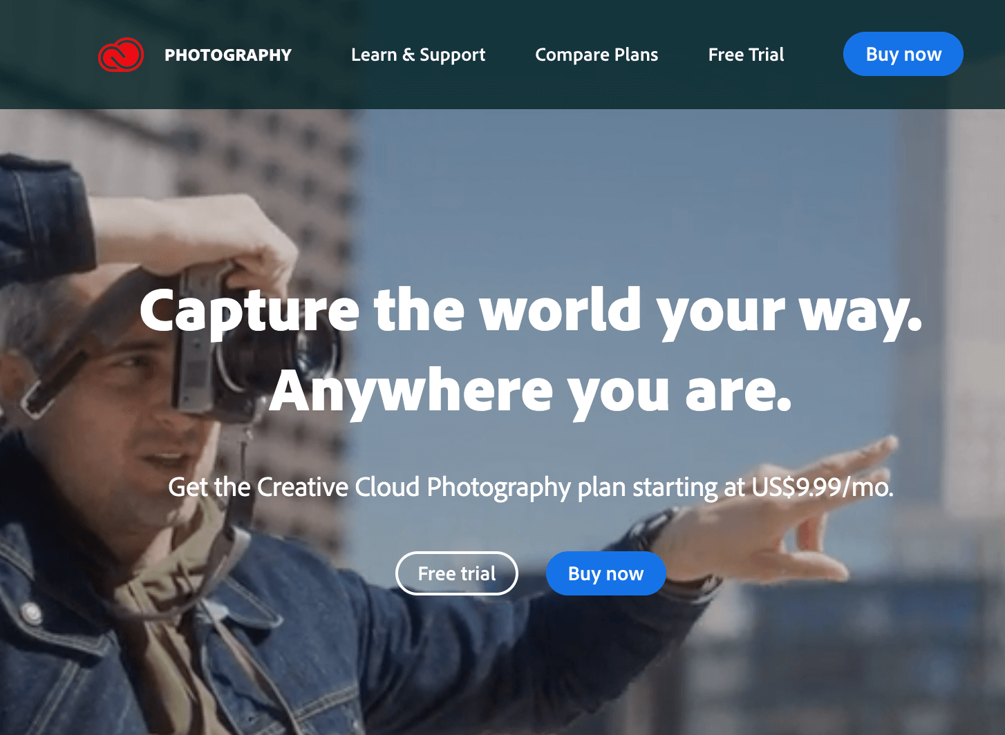 Adobe photography plan subscription - An affordable digital gift for the traveler who has it all