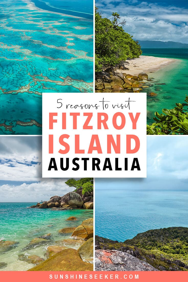 Click through to see why you should add Fitzroy Island to your bucket list now! This beautiful and interesting island just outside Cairns, Australia literally sits on the Great Barrier Reef. You have to check it out #fitzroyisland #cairns #australia #bucketlist #travelinspo