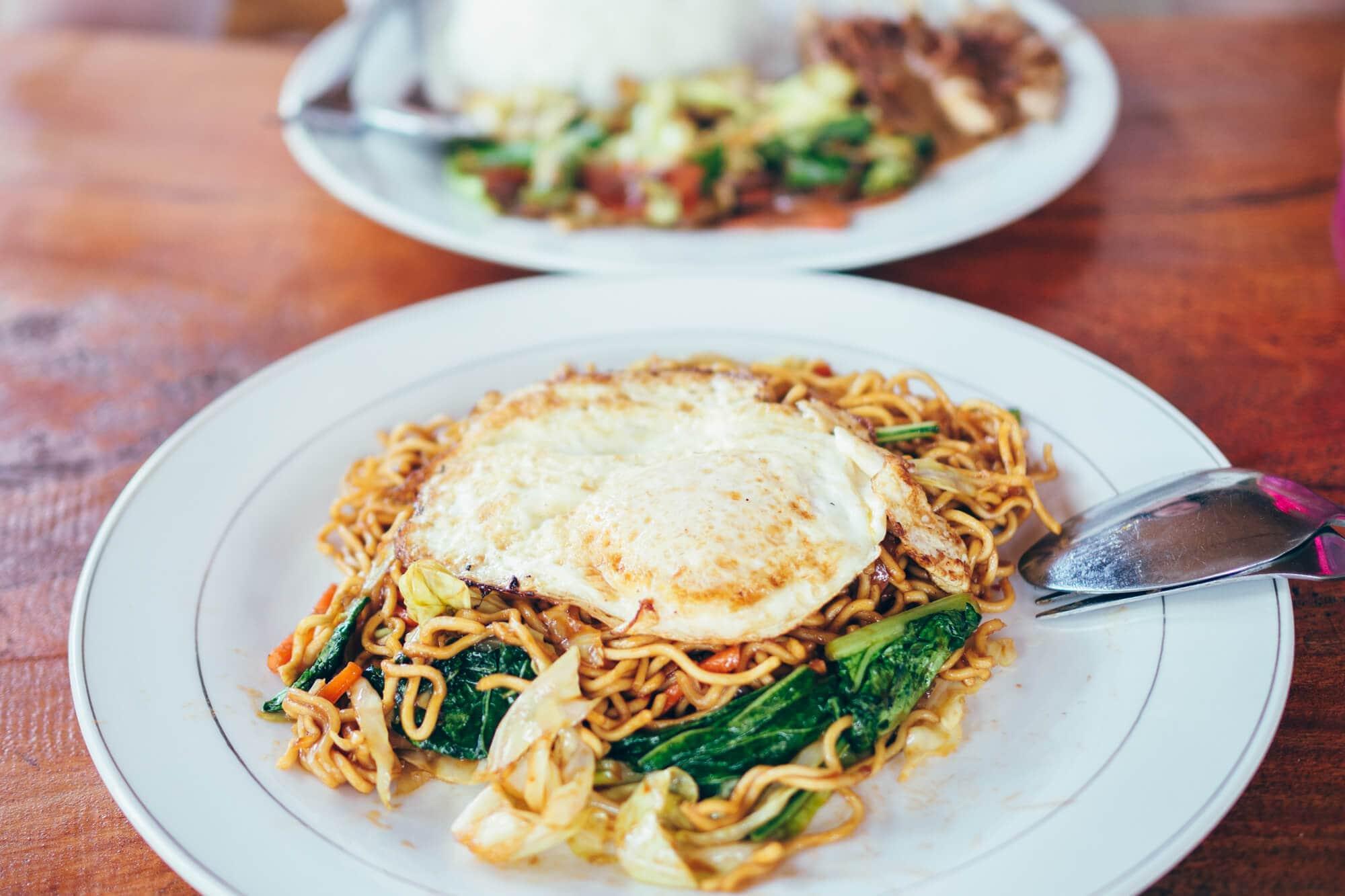 Mie Goreng (Indonesian fried noodles) in Nusa Penida