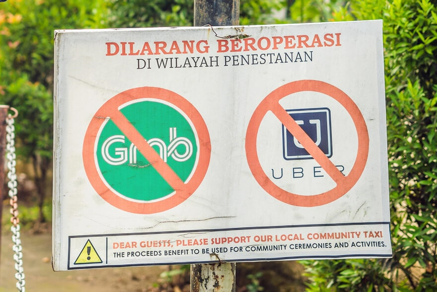 Everything you need to know about the most common scams in Bali - Ridesharing apps overcharge
