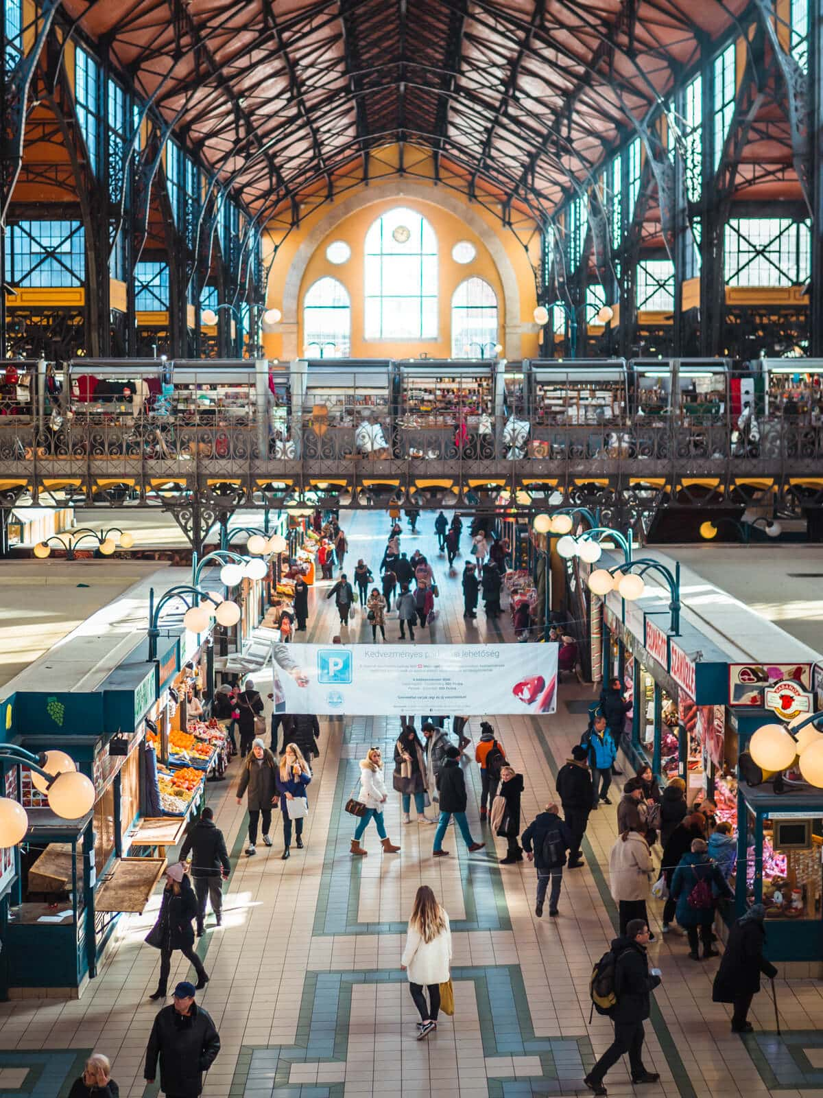 Budapest Instagrammable Places - The Great Budapest Market Hall