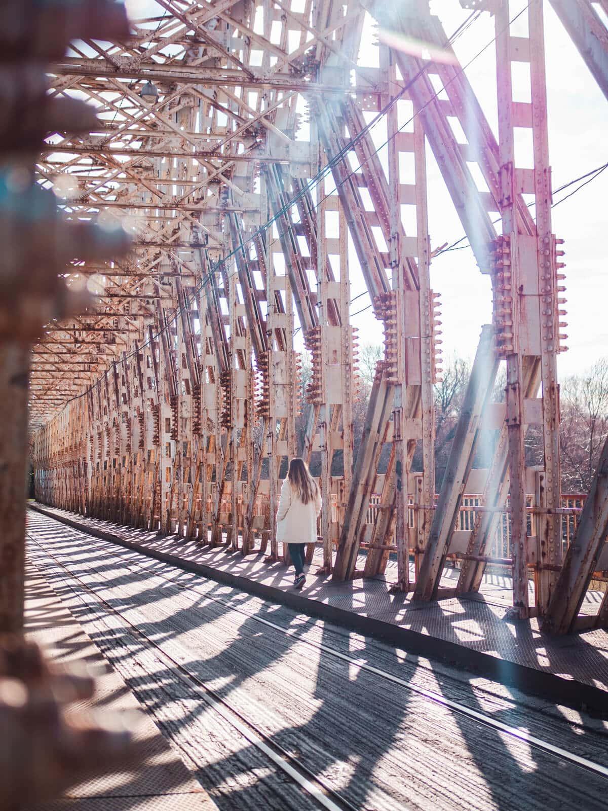 Budapest Instagrammable Places - K-Bridge at Hajógyári Island