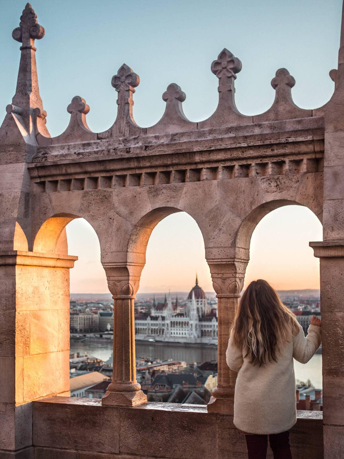 Budapest Instagram photo guide - Sunrise seen from Fisherman's Bastion