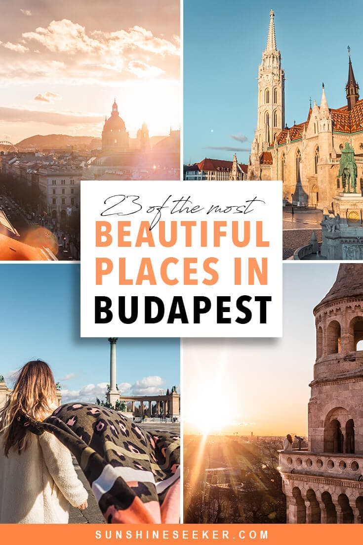 Discover the most Instagrammable places in Budapest. From sunrise over Fisherman's Bastion to gorgeous sunset views at the 360 Igloo Bar. Here are the 23 top things to do in Budapest, Hungary