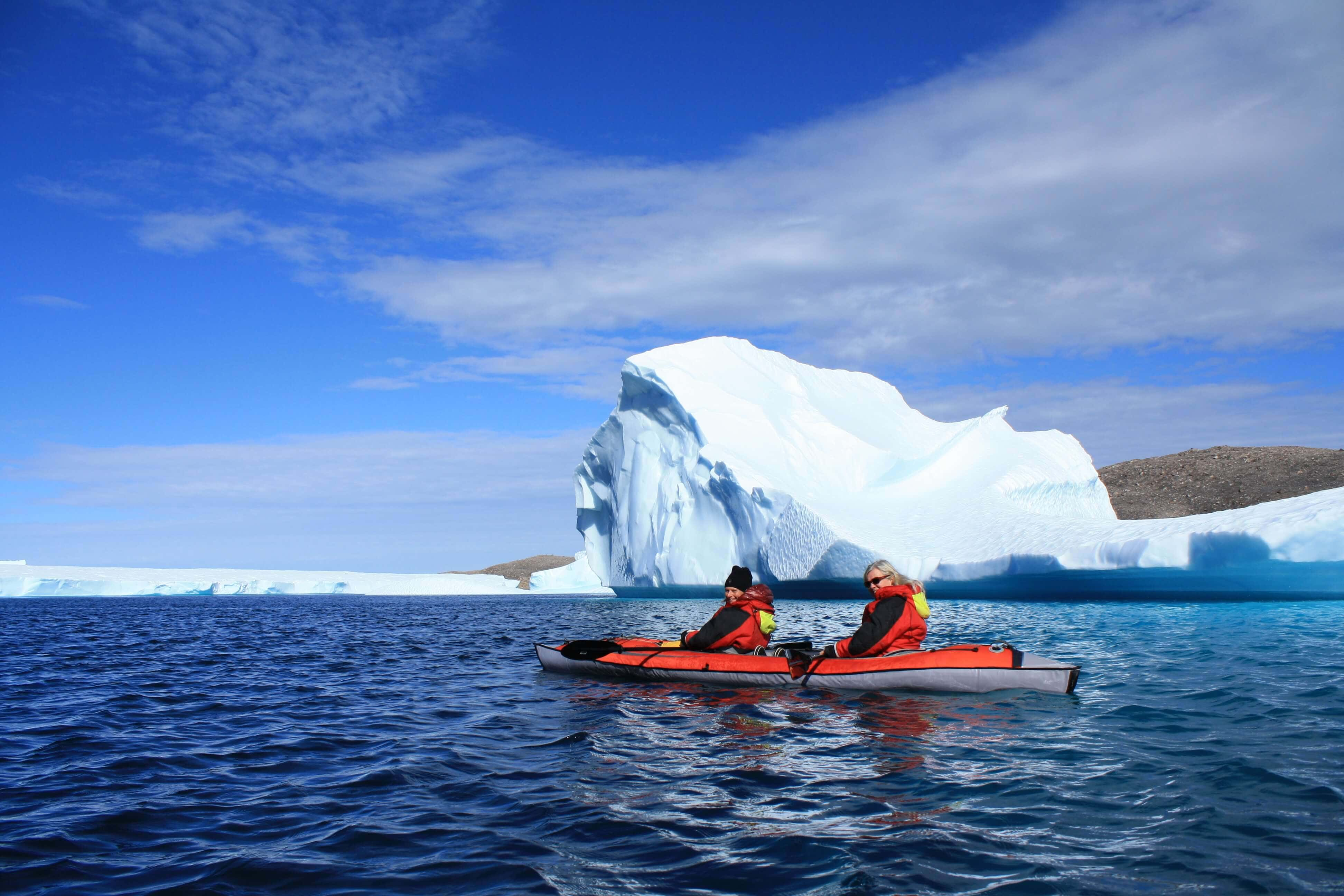 20 of the most unforgettable travel experiences in the world - Kayaking among icebergs in Nunavut, Canada