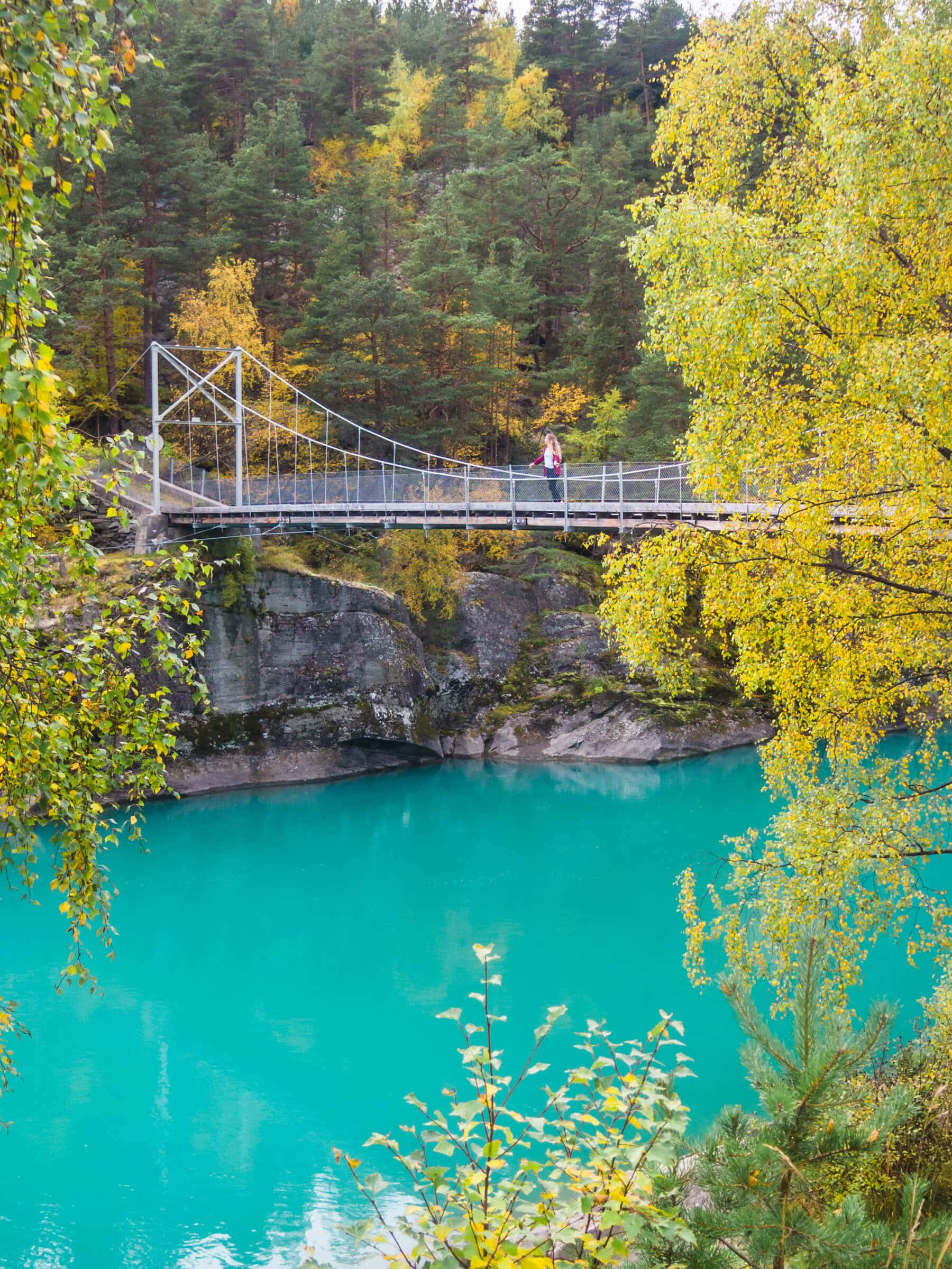 Gorgeous turquoise Finna river - Top things to do in Norway #bucketlist #norway #travelinspo #innlandet