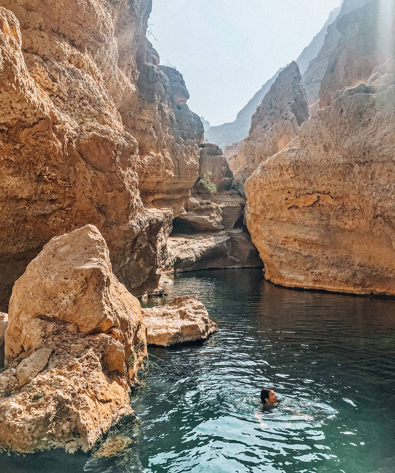 Travel bloggers reveal their most unforgettable travel experiences - Swimming in the wadis of Oman
