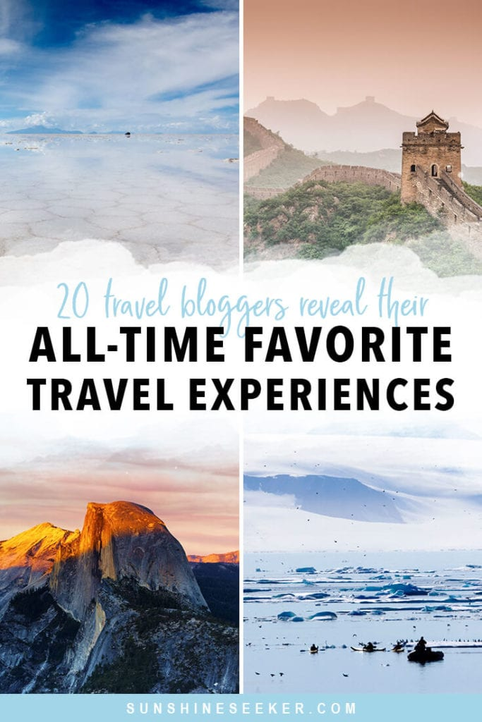 20 Travel bloggers reveal their most unforgettable travel experiences in the world. From exploring lesser-known national parks to swimming in the wadis of Oman and hot air ballooning in Cappadocia. Click through for 20 awesome bucket list ideas