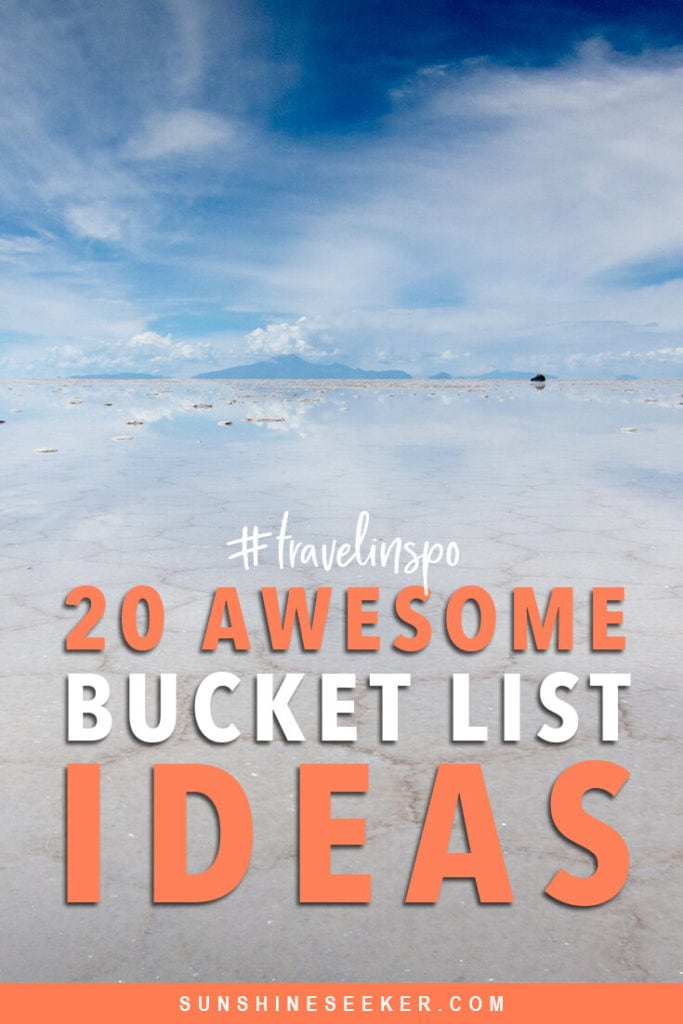 Discover 20 of the world's most most unforgettable travel experiences. From exploring lesser-known national parks to swimming in the wadis of Oman and hot air ballooning in Cappadocia. Click through for 20 awesome bucket list ideas #travelinspo #oman #bali #bucketlist #cappadocia