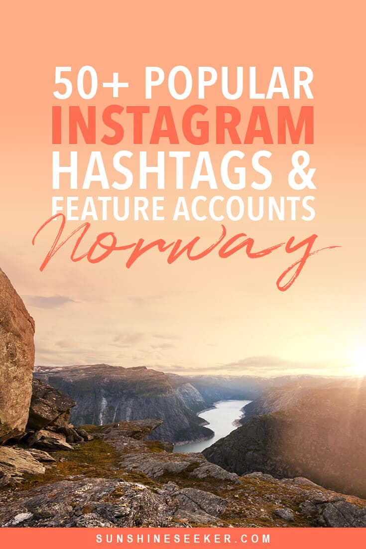 Click through for a list of the most popular Instagram hashtags & repost accounts for travel in Norway. I also share my own Instagram hashtag strategy that helped me grow my account to over 25k followers