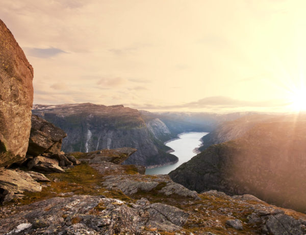 Sunrise over Trolltunga viewpoint in Norway - 50+ popular Norway Instagram hashtags & feature accounts