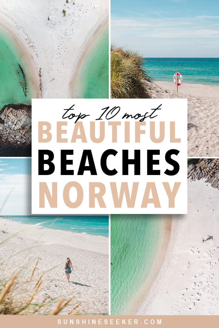 Discover the 10 most beautiful beaches in Norway! Yes, you read it right. Norway is actually home to some of the most spectacular beaches in the world. Go hiking, layout in the sun or learn to surf. We have beaches for everyone #lofoten #norway #beaches #travelinspo #stavanger