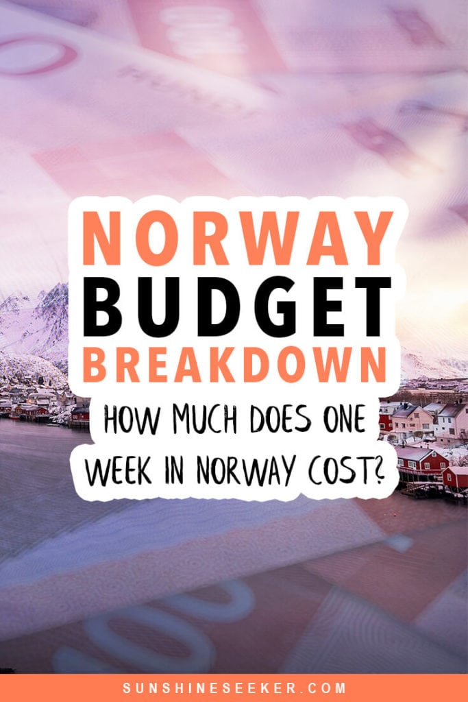 Is it possible to plan a budget friendly trip to Norway? Click through to find out exactly how much I spent on accommodation, food, transport, shopping and activities in my daily Norway budget breakdown #norway #trondheim #oslo #lofoten #budget #travel