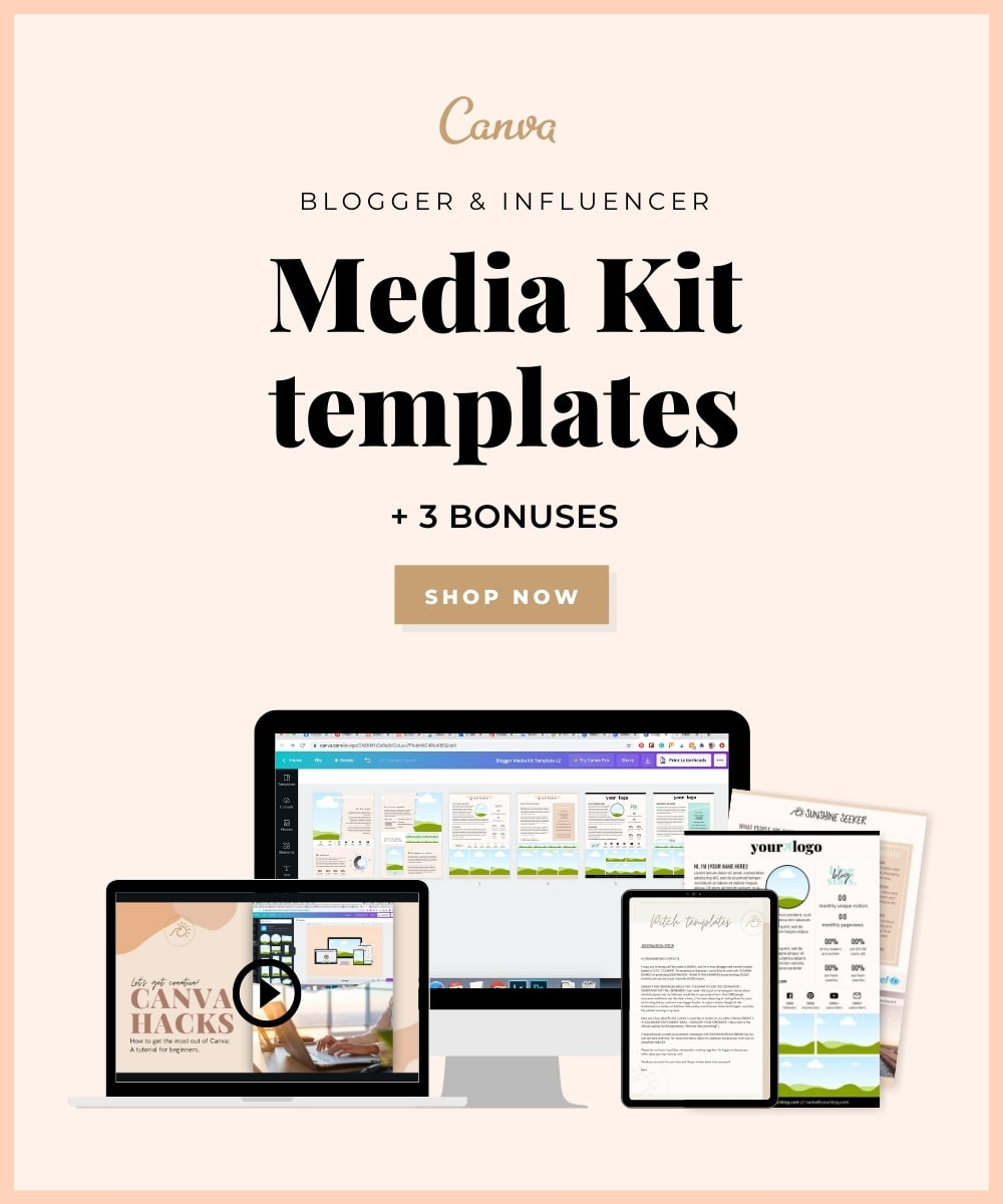 Media kit template for travel bloggers and influencers