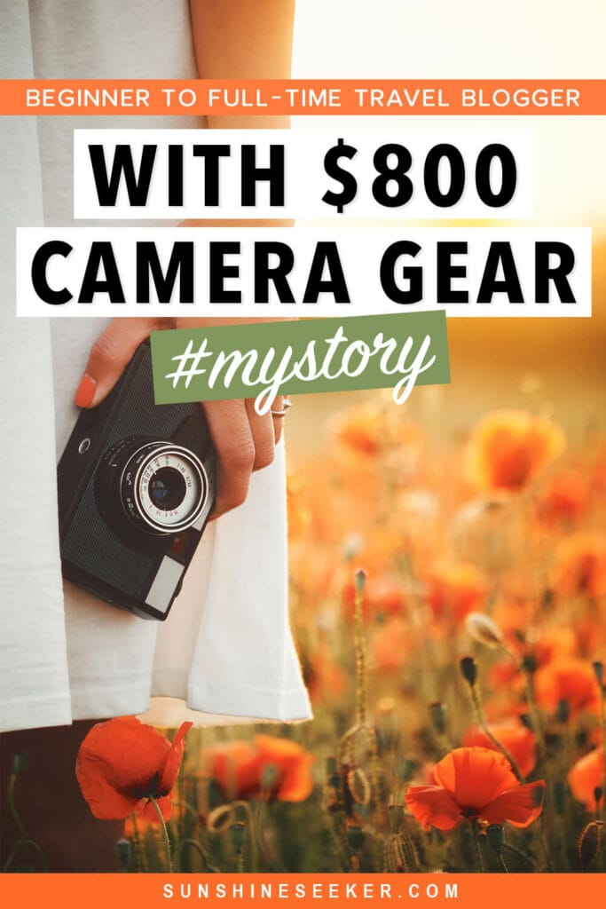 Are you looking for the best camera for travel bloggers? Here's how I went from a total newbie to full-time content creator with an affordable camera #travelblogger #camera #contentcreator