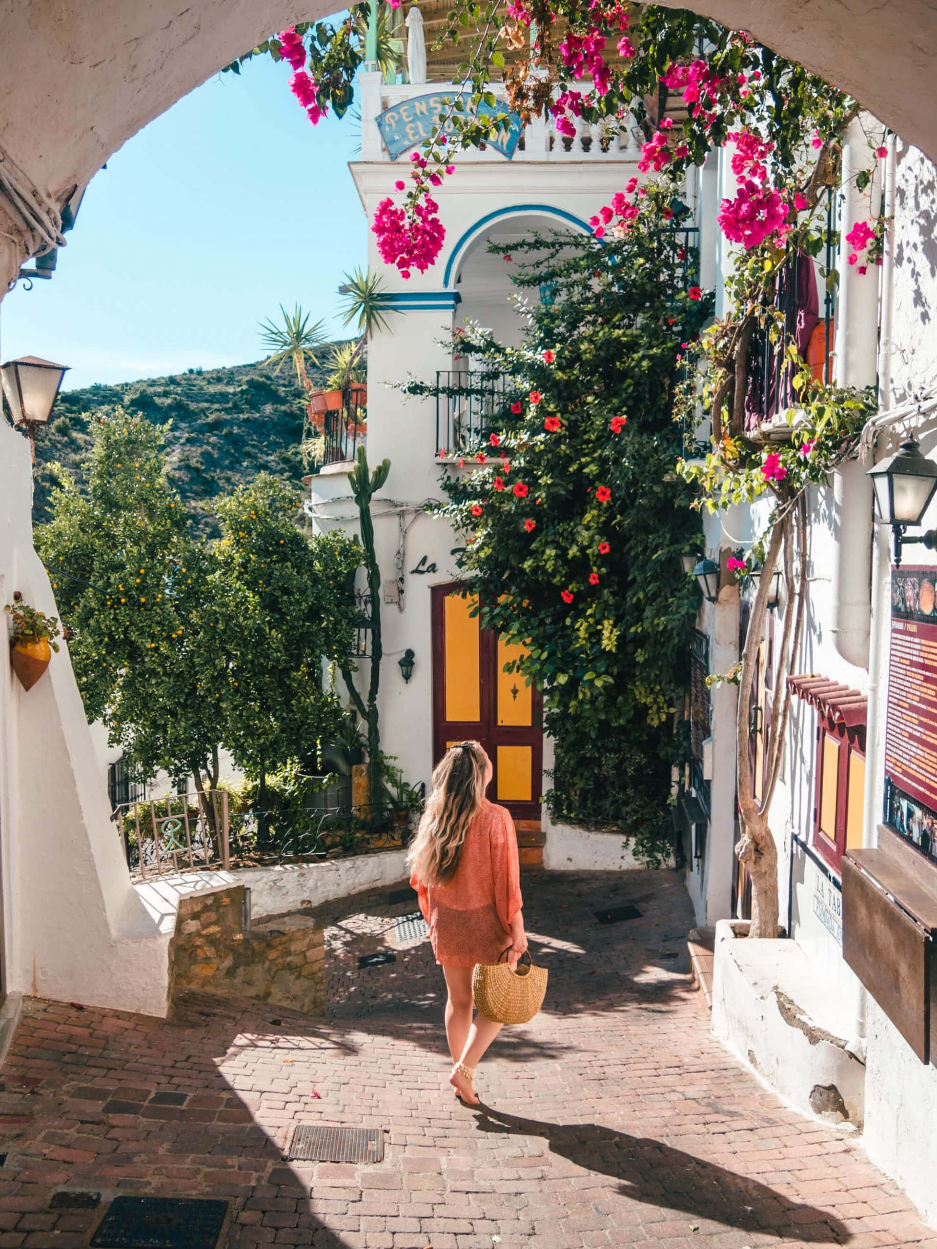 A picturesque street in Mojácar Pueblo, Andalucía - Very possibly the most beautiful place in all of Spain
