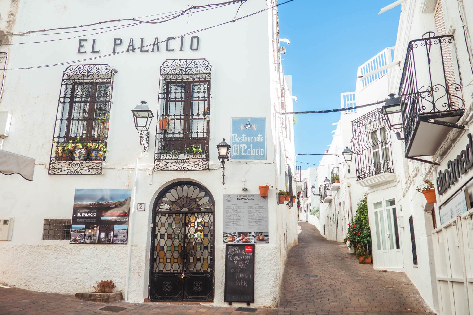 Beautiful white houses in Mojácar Pueblo, Spain - One of Andalucía's most beautiful white villages