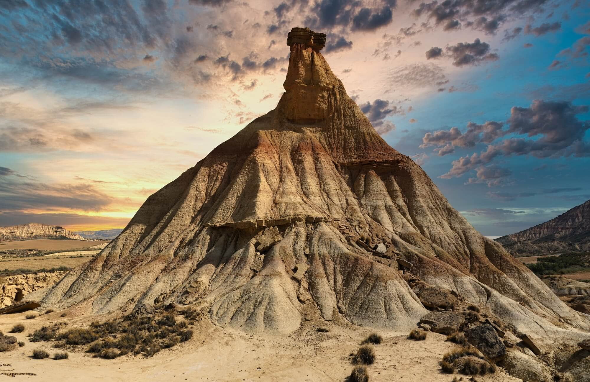 Bardenas Reales desert landscape - The Ultimate Spain Bucket List