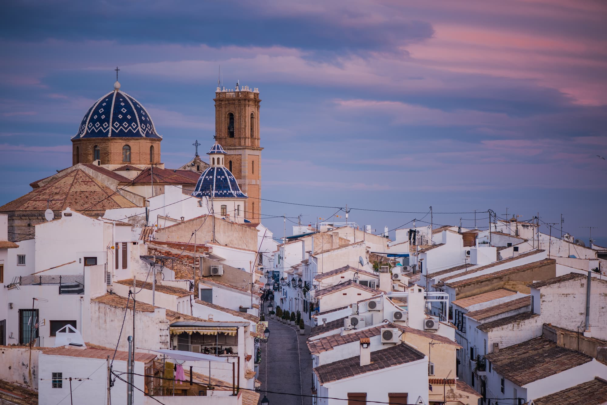 White houses in Altea, one of the most beautiful towns in Spain - The Ultimate Spain Bucket List