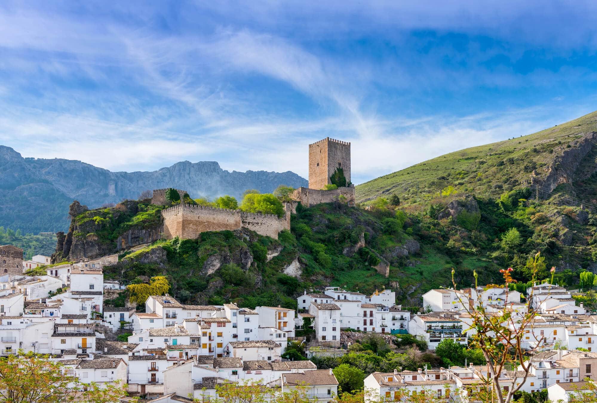 An old fortress towering over the white town of Cazorla - One of Spain's true hidden gems