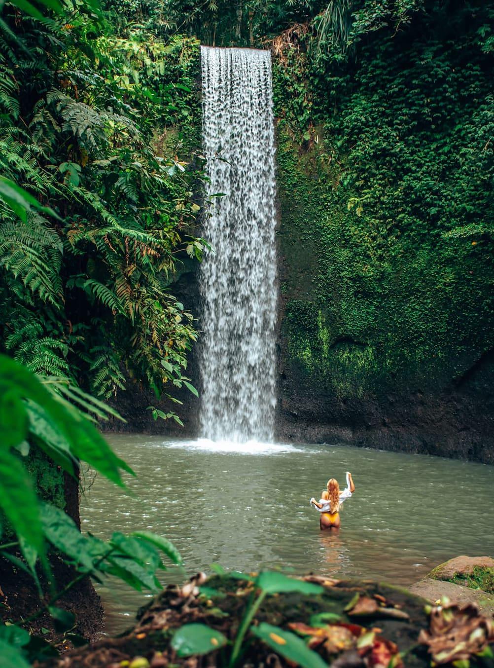 A guide to all the best waterfalls in Ubud Bali - Tibumana Waterfall