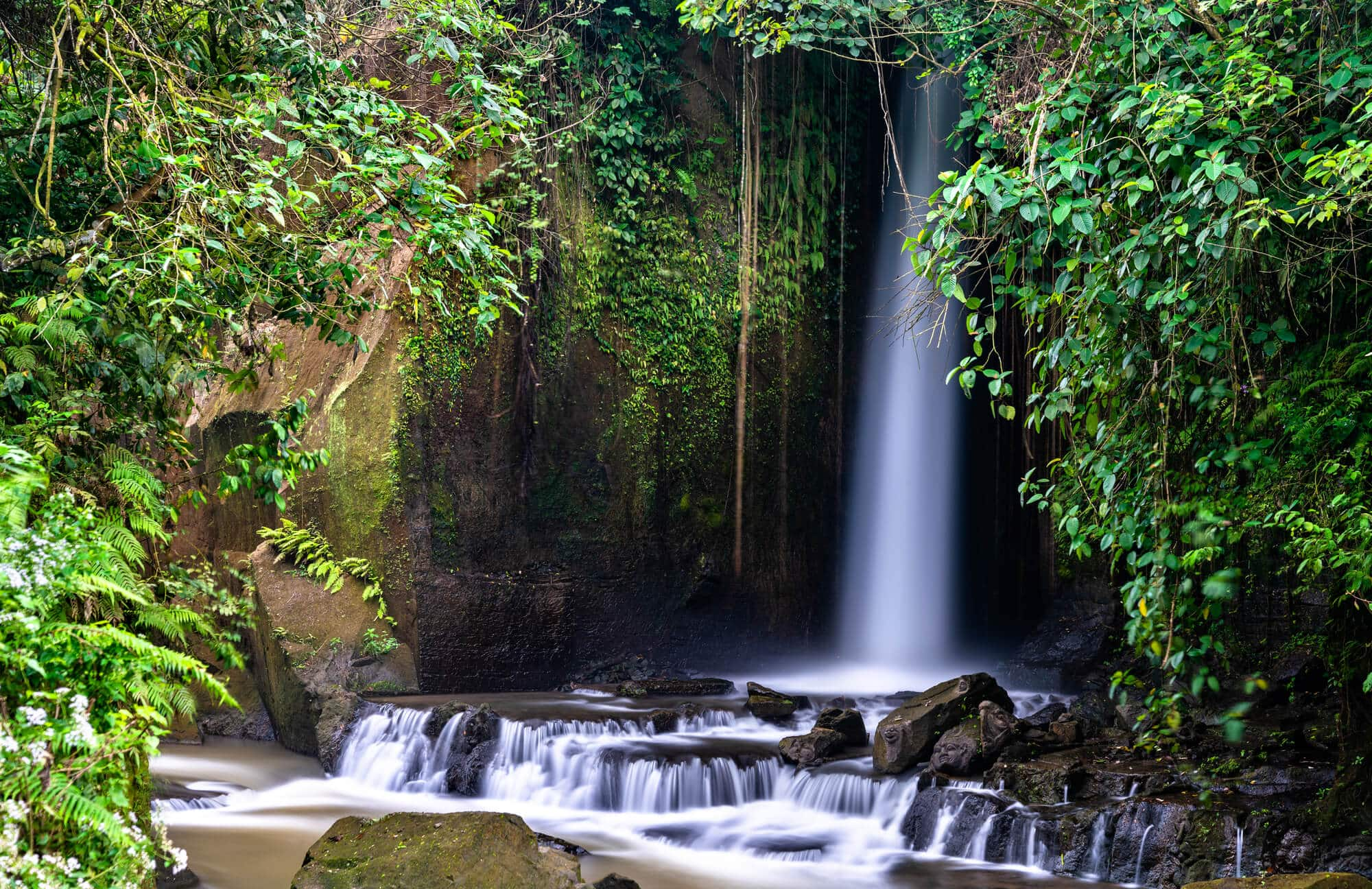 A guide to all the best waterfalls in Ubud Bali - Sumampan Waterfall