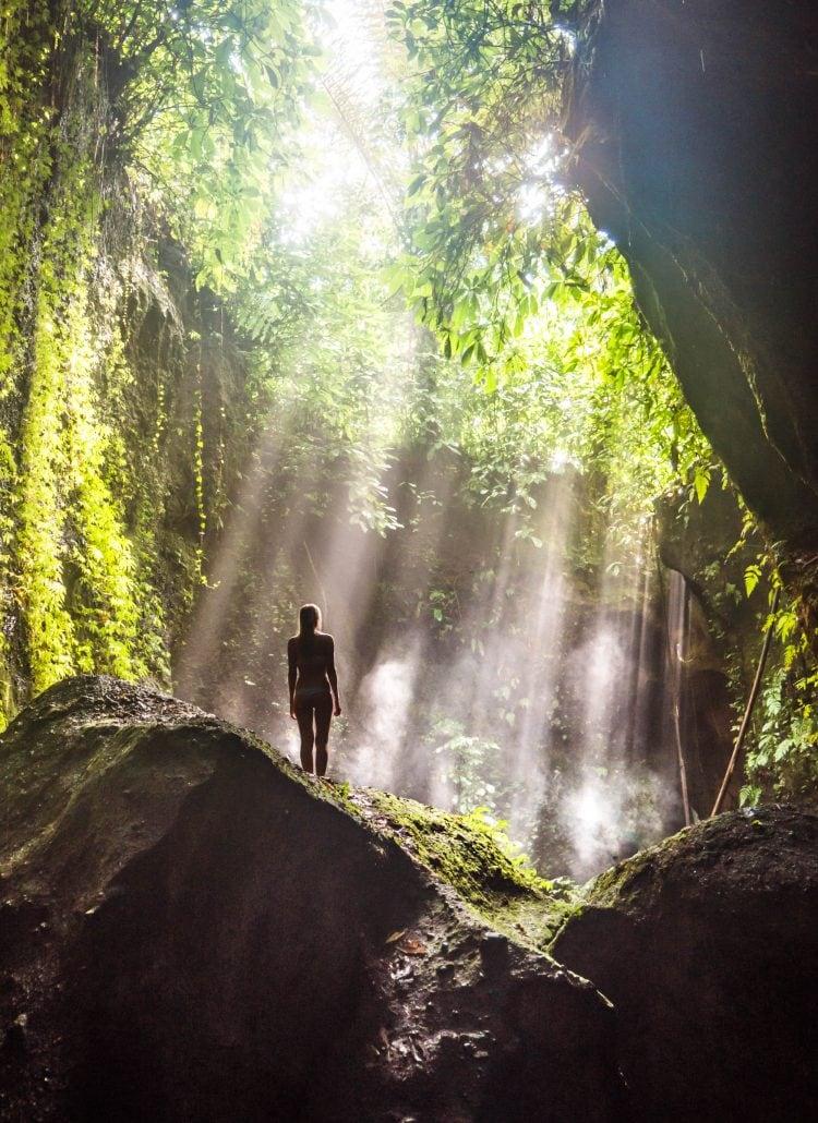 Tukad Cepung Waterfall in Ubud Bali