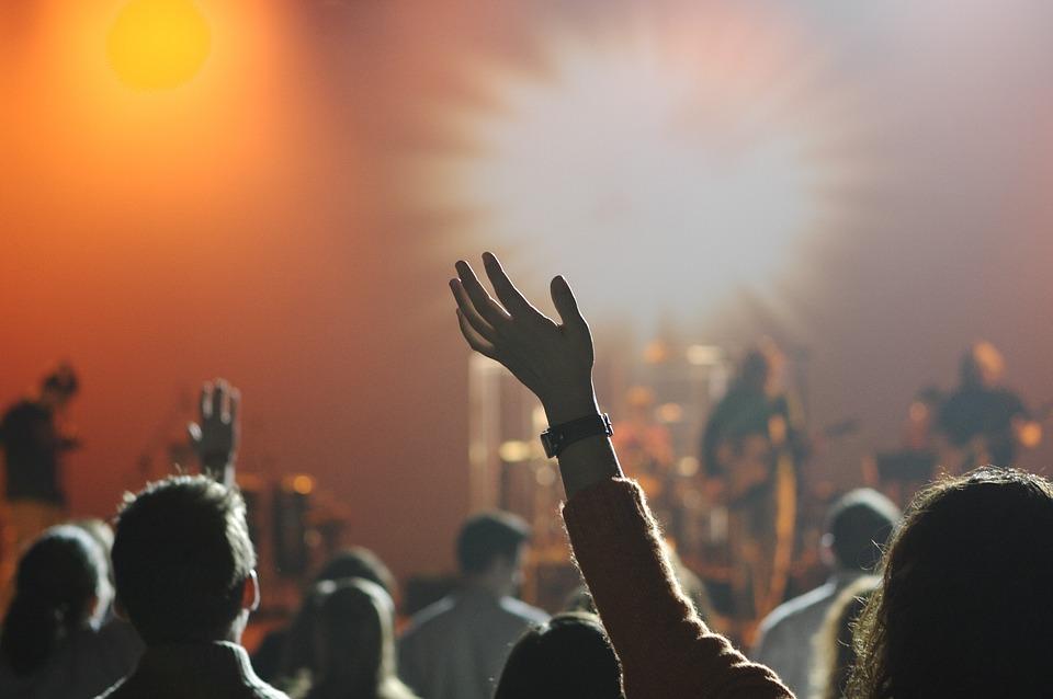 Publikum til band