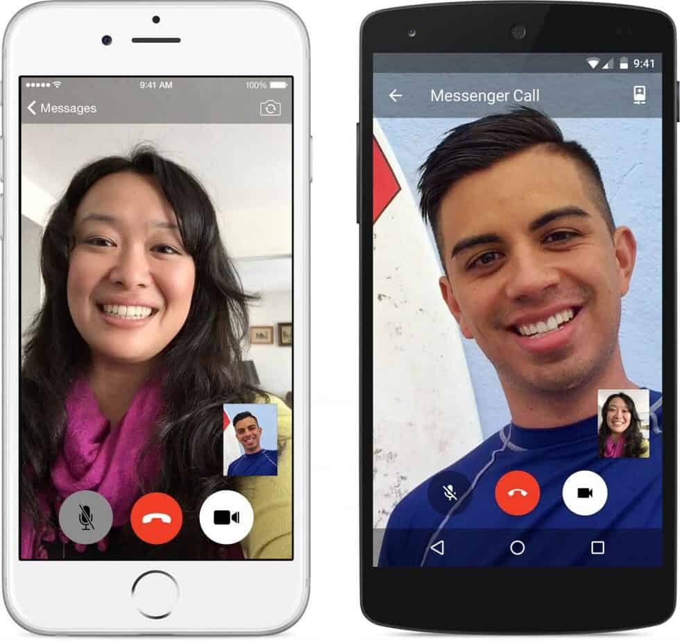 Videosamtal på två telefoner