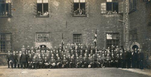 Danske civilfanger på Sønderborg Slot 1914