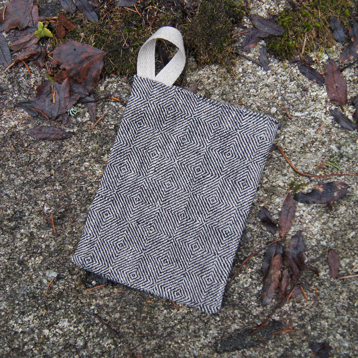 Tvättlapp linne gåsöga mellan